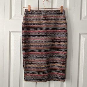 Zara Trafaluc NWOT aztec knit pencil skirt size S